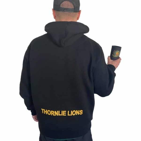Thornlie Junior Football Club Black Hoody (Back)