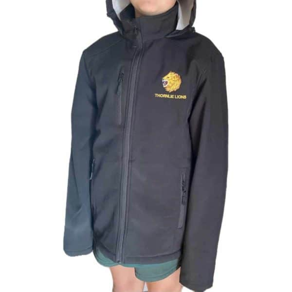 Thornlie Junior Football Club Soft Shell Black Jacket